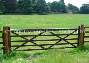 Creosoted Treated Gate