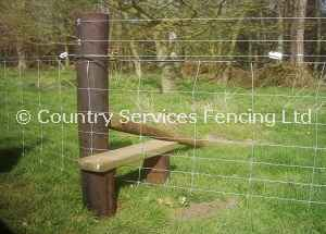 Stile with wire netting